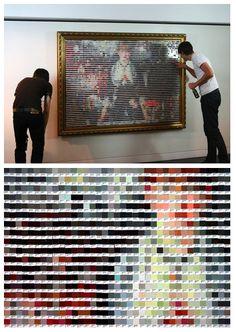 paint chip pixelated art