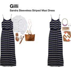 """""""Sandra Sleeveless Striped Maxi Dress"""""""