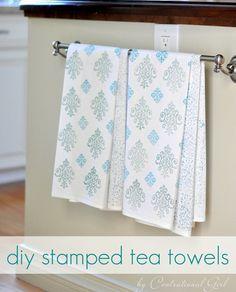 Stamped tea towels... LOVE
