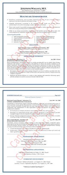 administrator resume sample more community health job searching resume