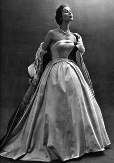 de givenchi, ball gowns, vintage ball gown, vintage ballgowns, vintag fashion, dress, 1953, hubert de, givenchy vintage
