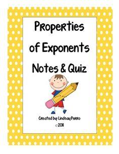 Education-Algebra 1-Exponents on Pinterest | Algebra, Scavenger Hunts ...