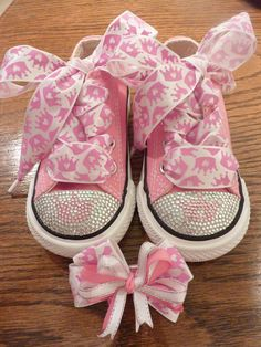 Princess Baby Bling Converse!! Ask me how to get a pair of your own!