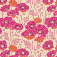 Joel Dewberry - Notting Hill Voile - Pristine Poppy in Magenta