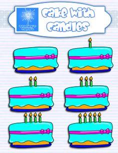 free clip art set--birthday cakes