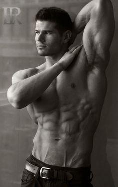BRANDON BASS / © Luis Rafael (Facebook @ luisrafael4photos) # torso six pack abs pecs armpits bare chest male fitness model