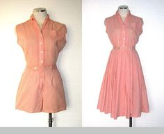 Gingham 50s playsuit and skirt set. Good inspiration, although I prefer separates!