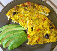 Green Chile Chicken Fajita Frittata  @Jackie Gregory Living Healthy