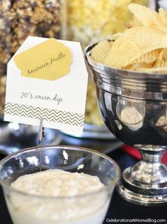 Oscars theme party ideas & best picture themed menu #oscarsparty
