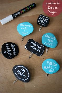 Awesome! Totally making these adorable potluck food labels from @tartryin