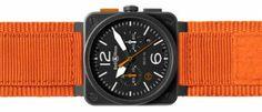 Bell&Ross BR 03-94 Carbon Orange Una edición limitada de 500 unidades con inspiración aeronáutica y el color naranja como protagonista.