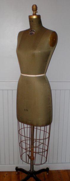 Vintage JR Bauman dress form 1945 by plainandelegant on Etsy, $800.00
