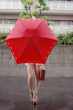 *Red umbrella