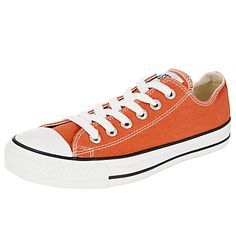 Orange Converse Chuck Taylor All Star Ox Trainers.