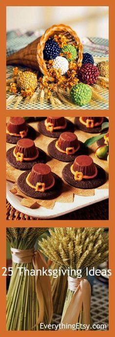 25 Thanksgiving Day Ideas - EverythingEtsy.com #thanksgiving #diy