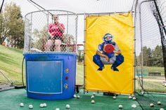 The Camp Honda dunk tank was the perfect activity for the players to cool down between games .