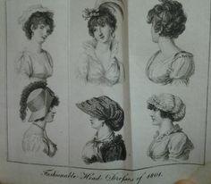 Head dresses of 1801, taken from Ladies notebook 1802