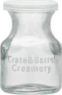 Mini Glass Creamer  | Crate and Barrel $2.95