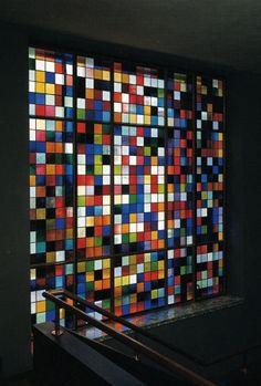 Gerhar Richter, Vitral de 625 colores, 1989. Catalogue Raisonné: 703. Tomado de http://www.gerhard-richter.com