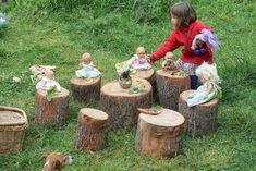 Tree stumps - inspiring open-ended play.