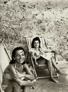 Lee and Jackie sunning...