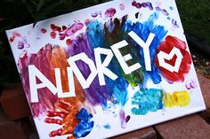 This is such an easy and fun way to create a fun kids painting!