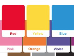 Colors flash cards.