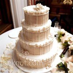 Pin Stripe Wedding Cake