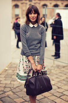 Alexa Chung. Peter Pan Collar. Perfection.