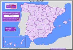Mapa interactivo de España Provincias de España. ¿Dónde está? - Mapas Interactivos