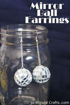 Mirror Ball Earring Tutorial