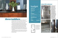 """The beautiful bathroom was built by Van Heel Dream Builders!  (Published by Better Homes & Gardens, Summer 2012 edition of """"Real Life Kitchens & Baths"""")"""