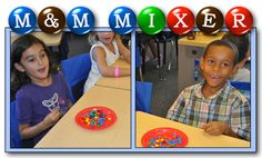 "My students always love the M&M ""Getting-to-Know-You"" activity during the first week of school.  LINK to mixer:  http://www.teacherspayteachers.com/Product/Back-To-School-Pack-Including-Open-House-262489  (**Blog Post from The Knight Times: Class Scrapbook)"