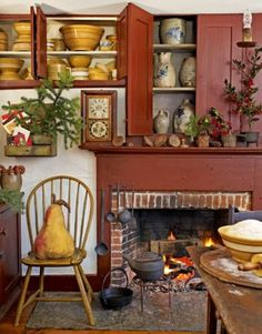 #colonial decor; #family room