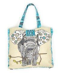 elephants, beach tote, bag, christma