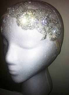 The Daisy Buchanan-1920s Crystal Flower Headband-Swarovski Crystal Great Gatsby- Holiday Winter Wedding-Bohemian New Years Eve