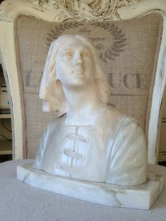 Antique Marble Joan of Arc Bust Jeanne D Arc by edithandevelyn on Etsy