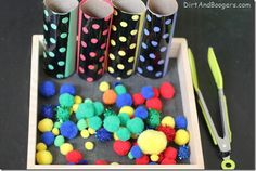 Pom Pom Drop / Color Sorting Activity
