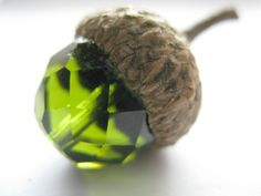 """Fall Autumn Acorns Set of 6 Acorn Decoration Wedding Favor """"Fairy Acorns"""" to hide for the little kids in the yard. They love to find them. :)"""