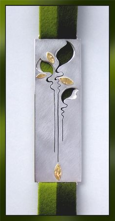 Bookmark that can be worn as a pendant  also a beautiful use of negative space