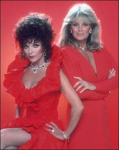 1980s Fashion: The Carringtons ruled TV in the 80's with Bob Mackey creations...