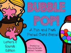 Bubble Pop! A Fast Paced Card Game (Letters & Sounds)