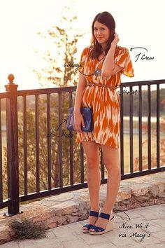 love the orange dress