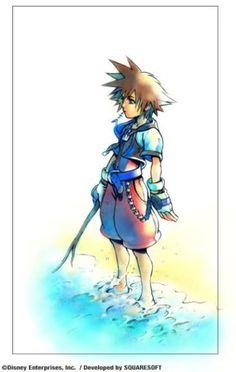 Sora~ from Kingdom Hearts Saga - Kingdom Hearts Artwork by SquareEnix ~2002~