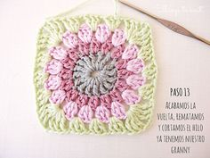 Circle in a square - Tutorial in Spanish (by Things to Knit) <3