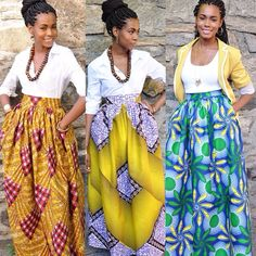African inspired style skirts