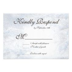 Winter Snow Camo Elegant Wedding RSVP Cards