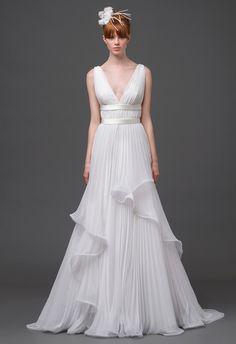 Alberta Ferretti Wedding Dress   Blog.theknot.com