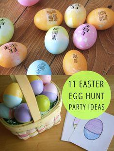11 Easter Egg Hunt ideas for the kids!