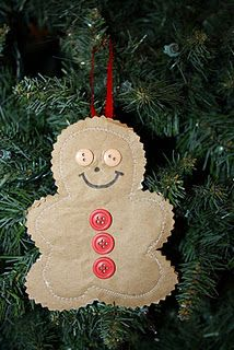 gingerbread ornament - need to do a little sewing with this one, but can be done by hand also